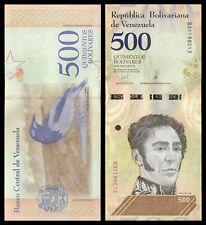 Venezuela  500  Bolívares  15-5-2018  Pick 107  SC = UNC