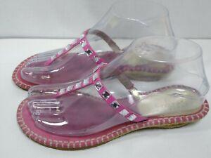Cole Haan Women's Pink Suede Sandal Jewels size 6.5 D21930 Flip flop