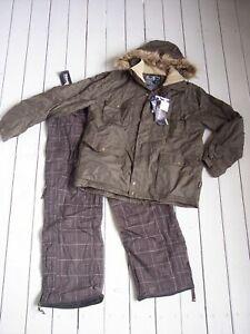 NEU Skianzug Snowboardanzug Herren braun Gr. 56 XL TechTex, Thinsulate (11