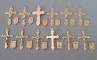 Lot 24 Rosary Crucifixes & Centers Centerpieces Parts Italy Rosaries finish GOLD