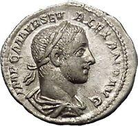 Severus Alexander 226AD Silver Ancient Roman Coin PAX Peace Goddess Cult  i52307