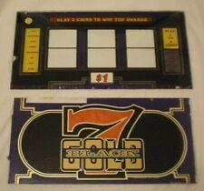 Casino Slot Machine Bally Glass Framed Vegas Quality Art Piece Vintage Lot of 2