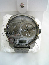 DIESEL WATCH BIG DADDY DZ7247 STAINLESS STEEL CHRONOGRAPH ANADIGITAL BNIB
