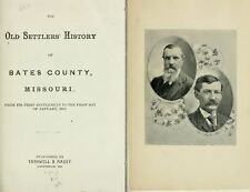 1897 BATES County Missouri MO, History and Genealogy Ancestry Family DVD B23