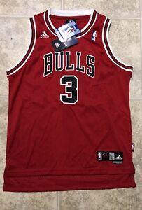 Ben Wallace Adidas Chicago Bulls Swingman Sewn Youth Jersey New Large