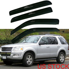 For 02-10 Ford Explorer vent window shade visors rain guards 4Pieces Smoke
