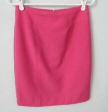 Worthington pink poly/rayon blend lined knee length straight skirt *Sz 4*