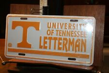 Vintage 1990's University Tennessee Vols Football LETTERMAN License Plate
