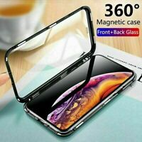 360 Protective Magnetic Glass Phone Case Cover fr iPhone 6 7 8 Plus X 11 Pro Max