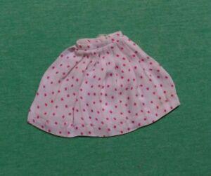Vintage Barbie Doll Clothes - Vintage Barbie White Dotted Pak Pert Skirts