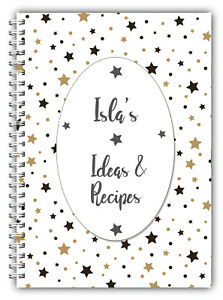 A5 PERSONALISED RECIPE PLANNER, WRITE YOUR OWN RECIPES,HEALTHY RECIPE BOOK,11
