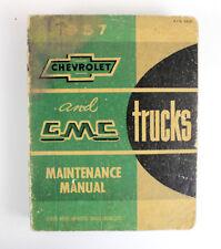 Chevrolet, GMC trucks 1957 factory workshop manual