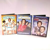 Will Ferrell Movie 3-DVD Lot AnchorMan Step Brothers Semi-Pro