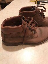 Cabela's Gore Tex 4 Eye Leather Ankle Boots Men's US 12 Vibram Gumlite