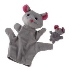 Grey Mouse Hand Puppet Finger Puppets O3V6