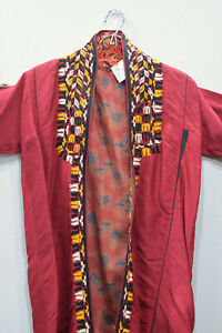 Coat Embroidered Red Turkmen Chapan