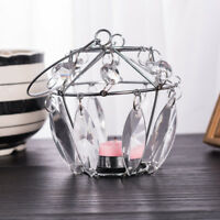 Modern Hanging Candle Holder Pendant Wrought Iron Lamp Home Atmosphere Decor