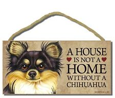 Chihuahua Wood Dog Sign Wall Plaque 5 x 10 for Dog Lovers Gift House Leash Bone