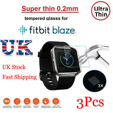3X Tempered Glass Full Screen Protection Protector For Fitbit BLAZE Smart Watch