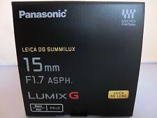 New Panasonic LEICA DG SUMMILUX 15mm/F1.7 ASPH. H-X015-K    lens  H-X015