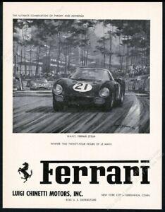 1966 Ferrari 275LM NART 275 LM race car art unusual vintage print ad