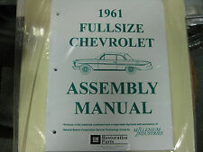 1961 FULLSIZE CHEVY IMPALA, BELAIR, BISCAYNE (ALL MODELS) ASSEMBLY MANUAL