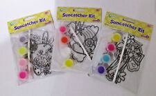 Lot of 3 Kellys Suncatcher Kits Ages 8+ Rainbow Bunny Cat Cross Christmas Easter