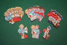 60 Stück alte (3x20) ganz liebe Kinder Bilder aus Papier z.B. f. Valentinskarten