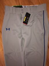 Under Armour Baseball Pants Men's Size Large Gray/Blue Piping