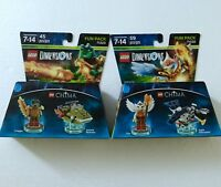 2 Pc LEGO dimensions Chima FUN PACK #71232 eris #71223 cragger New in box!!!