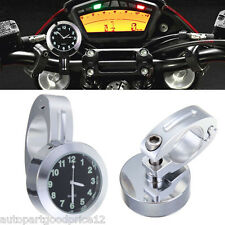 """Universal 7/8"""" to 1"""" Motorcycle Accessory Handlebar Mount Watch Dial Clock New"""