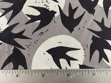 Marks Birds Hitchcock - Robert Kaufman AVW-16353 184 Charcoal - Cotton Fabric