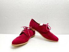 Xhilaration Womens Lata Maroon Lace Up Flats Shoes Size 7 - NEW