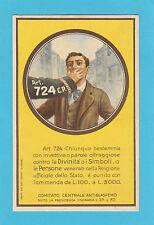 5564) Art. 724 Comitato Centrale Antiblasfemo - originale perfetta