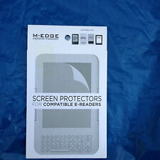"""M-EDGE SCREEN PROTECTORS 3 PACK KINDLE/NOOK/SONY E-READERS 6"""" BN1SPC1PC"""