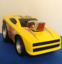 Hot Wheels Yellow Bouncing & Driving Race Car Light Up With Sound Effects