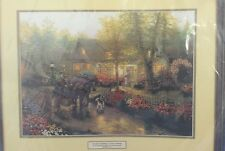 Cross Stitch Thomas Kinkade Horse Buggy Cottage House Flowers Floral Garden NEW