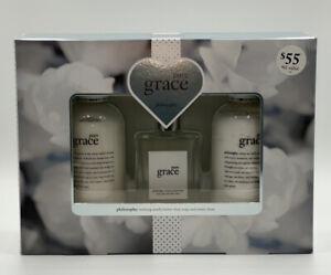 Philosophy Pure Grace Eau De Toilette Spray fragrance 3 pc Gift set