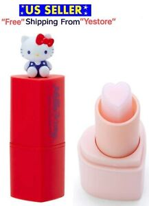 JAPAN Sanrio Hello Kitty Heart Shape Lip Cream Lip Balm Lipstick Rose Scent 3g