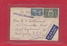 Double weight postage due special delivery air mail 1939 Canada cover 12c due