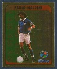 MERLIN-EURO 96 WITHDRAWN STICKER- #206-ITALY-PAOLO MALDINI-GOLD FOIL