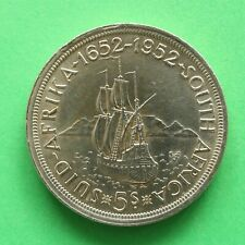 1952 George VI South Africa Silver Crown SNo57201