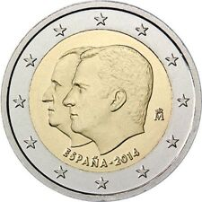 España 2014 - 2 Euro Comm - Change of the Head del estado de (UNC)
