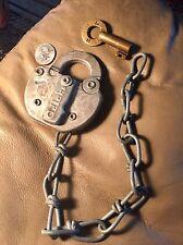 Antique Lock With Brass Key