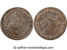 LUIGI XIV - 5 SOLS AL BADGE 1704 BB STRASBURGO