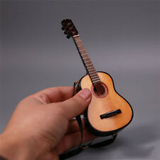 """1/6 Scale Folk Pop Guitar Wood Color Action Figure For 12"""" Doll Toy Box_Set"""