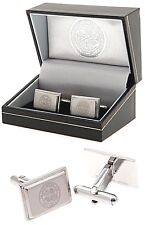 CELTIC FC ENGRAVED CREST STAINLESS STEEL MENS EXECUTIVE CUFFLINKS CFC