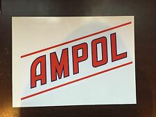 Ampol Sash adhesive vinyl decal for petrol bowser Gilbarco CM or Wayne Bullseye