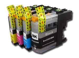 4 LC223 Ink Cartridge Set For Brother Printer MFCJ680DW MFCJ880DW non-OEM