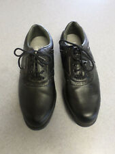 "Footjoy ""Greenjoys"" black leather golf shoes, Men's 8.5 M"